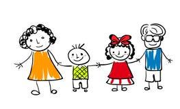 Famille heureuse mignonne Image stock