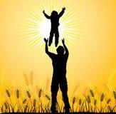 Famille heureuse, vecteur Photographie stock libre de droits