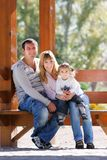 Famille heureux Photos stock