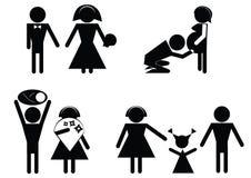 Famille heureux. Images libres de droits