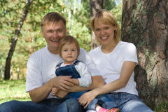 Famille heureux photographie stock libre de droits
