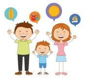 Famille heureux illustration de vecteur