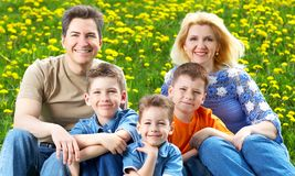 Famille heureux. Photos libres de droits