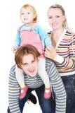 Famille heureux au-dessus de blanc Images libres de droits