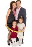 Famille heureux avec des enfants Images libres de droits