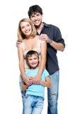 Famille heureux avec l'enfant Image libre de droits
