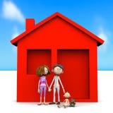 Famille heureux avec la chéri Image stock