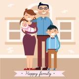 Famille heureux avec la chéri nouveau-née illustration stock