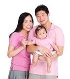 Famille heureux avec le descendant Image libre de droits
