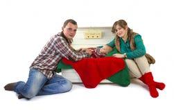 Famille heureux dans le studio Photo libre de droits