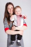 Famille heureux de mère et de fils Image stock