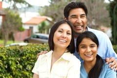 Famille hispanique avec une fille de l'adolescence Photo libre de droits