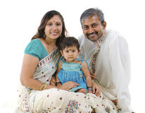 Famille indienne photo stock