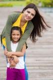 Famille indienne heureuse Images libres de droits