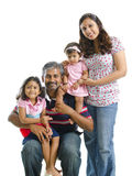 Famille indienne moderne heureuse Photo libre de droits