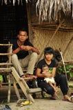 Famille indigène des indigènes d'asli d'Orang Photo libre de droits