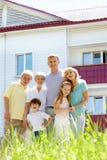Famille joyeuse Image stock