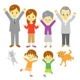 Famille joyeuse Photos stock