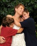 Famille joyeuse Images libres de droits