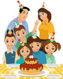 Famille l'anniversaire du ` s d'enfant Photographie stock libre de droits