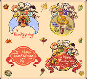 Famille le thanksgiving Image stock