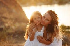 famille Mère et fille Photographie stock