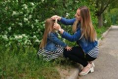 famille Mère et fille Photo stock