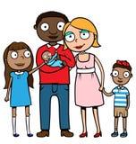 Famille mélangée d'appartenance ethnique Photos libres de droits