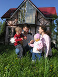 Famille. maison photo libre de droits
