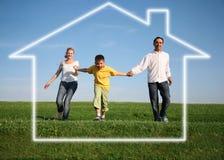 Famille. maison rêveuse Images libres de droits