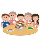 Famille, mangeant Image stock