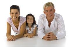 Famille menteur Image stock