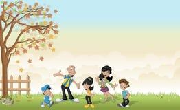 famille mignonne de latin de bande dessinée illustration stock