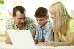Famille moderne Photos libres de droits