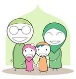 Famille musulmane illustration libre de droits