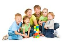 Famille nombreuse Photographie stock libre de droits