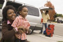 Famille prête pendant des vacances Photos libres de droits
