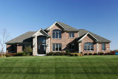 Famille résidentiel à la maison de subdivision de Chambre Images stock