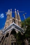 Famille sainte de Sagrada FamÃlia - une cathédrale en construction Image stock
