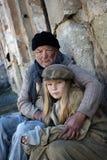 Famille sans foyer Image libre de droits