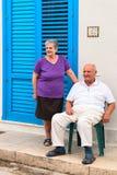 Famille supérieure sicilienne typique dans le capo de lo de San Vito photographie stock libre de droits