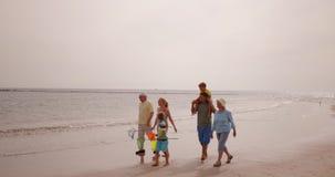 Famille sur la plage banque de vidéos
