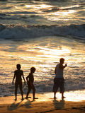 Famille sur la plage Photo libre de droits