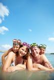 Famille sur la station de vacances Photographie stock