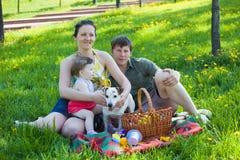 Famille sur le pique-nique, Image libre de droits
