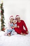 Famille sur Noël Image libre de droits