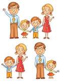 Famille tenant des mains illustration libre de droits