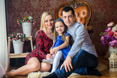 Famille très unie heureuse Images stock