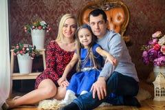 Famille très unie heureuse Photo stock
