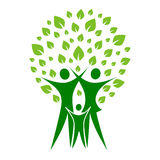 Famille verte Photographie stock